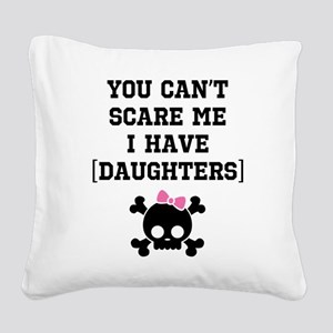 Funny Girl's Parent Square Canvas Pillow