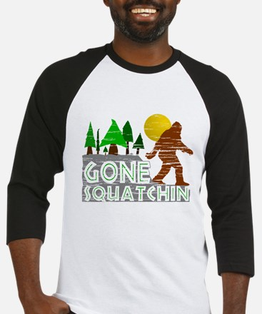 Gone Squatchin Vintage Retro Distressed Baseball J