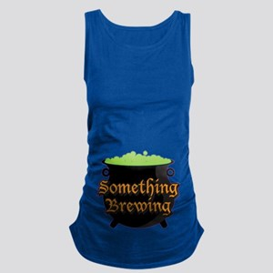Halloween Something Brewing Maternity Tank Top