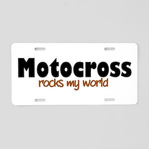 'Motocross' Aluminum License Plate