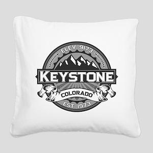 Keystone Grey Square Canvas Pillow