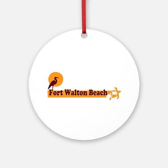 Fort Walton Beach - Beach Design. Ornament (Round)