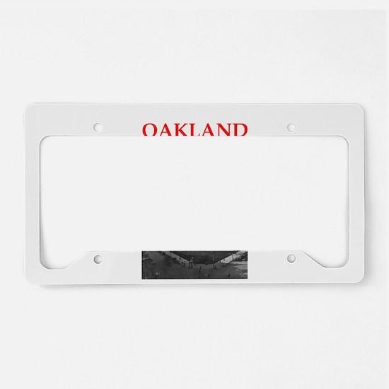 oakland License Plate Holder
