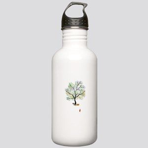 Foxes and Rainbow Tree Water Bottle