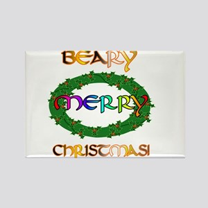 BEARY MERRY CHRISTMAS Rectangle Magnet
