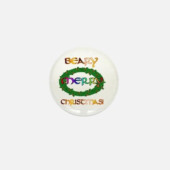 BEARY MERRY CHRISTMAS Mini Button