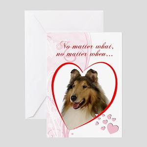 Collie St. Valentine's Day Card