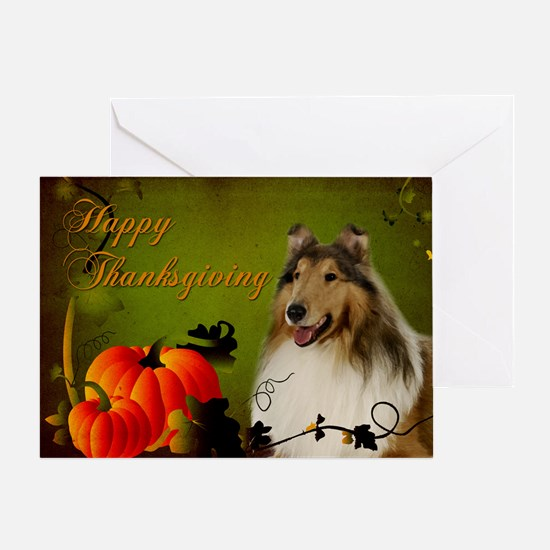 Collie Thanksgiving Card