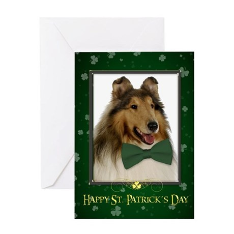 Collie St. Patrick's Day Card