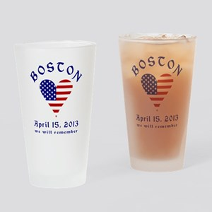 Boston Rememrance Drinking Glass