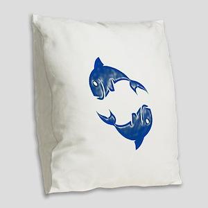 CYCLES OF Burlap Throw Pillow