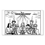 SubGenius Worship Rectangle Sticker