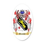 Bransby Oval Car Magnet