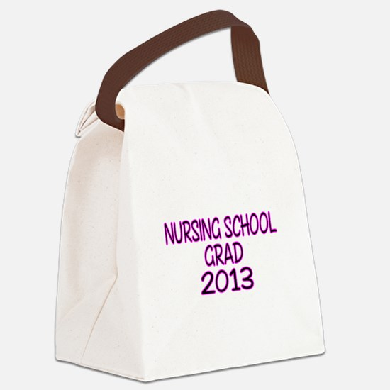 2013 NURSING SCHOOL copy Canvas Lunch Bag
