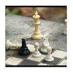 Game - Chess Pieces - Digital Photography Tile Coa