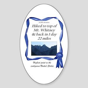 Mt. Whitney Oval Sticker