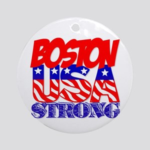 Boston Strong USA Ornament (Round)