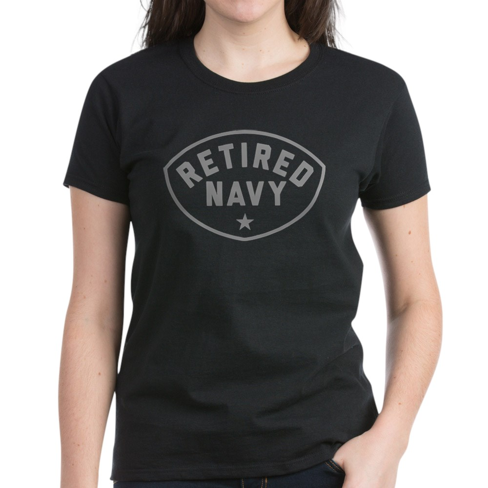 CafePress-Retired-Navy-Women-039-s-Dark-T-Shirt-Women-039-s-Cotton-T-Shirt-84039679 thumbnail 4