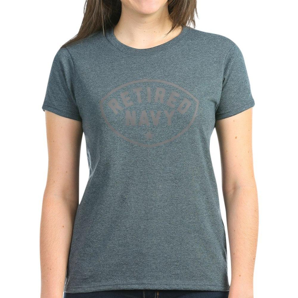 CafePress-Retired-Navy-Women-039-s-Dark-T-Shirt-Women-039-s-Cotton-T-Shirt-84039679 thumbnail 27