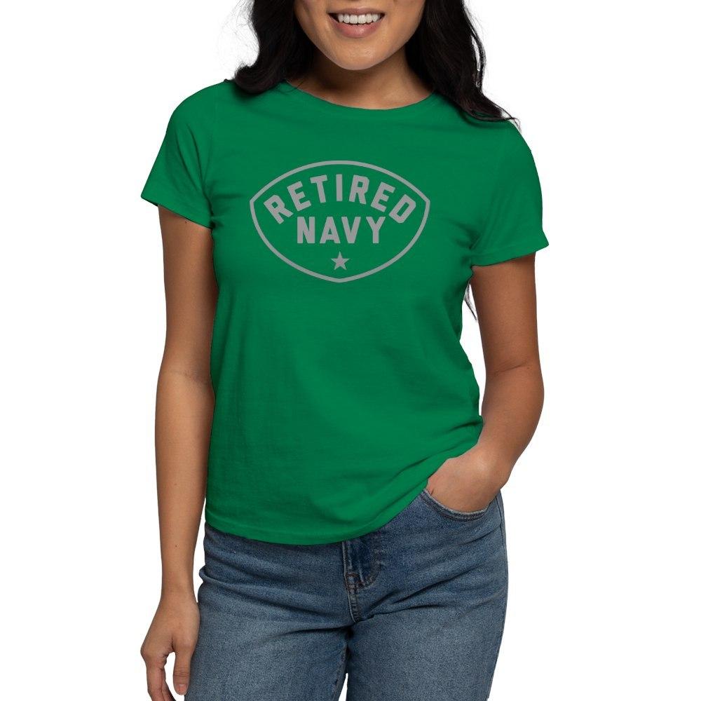 CafePress-Retired-Navy-Women-039-s-Dark-T-Shirt-Women-039-s-Cotton-T-Shirt-84039679 thumbnail 36