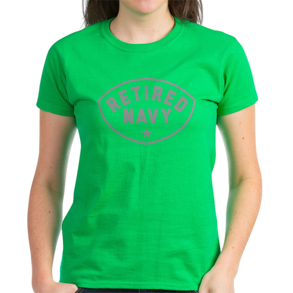 CafePress-Retired-Navy-Women-039-s-Dark-T-Shirt-Women-039-s-Cotton-T-Shirt-84039679 thumbnail 41