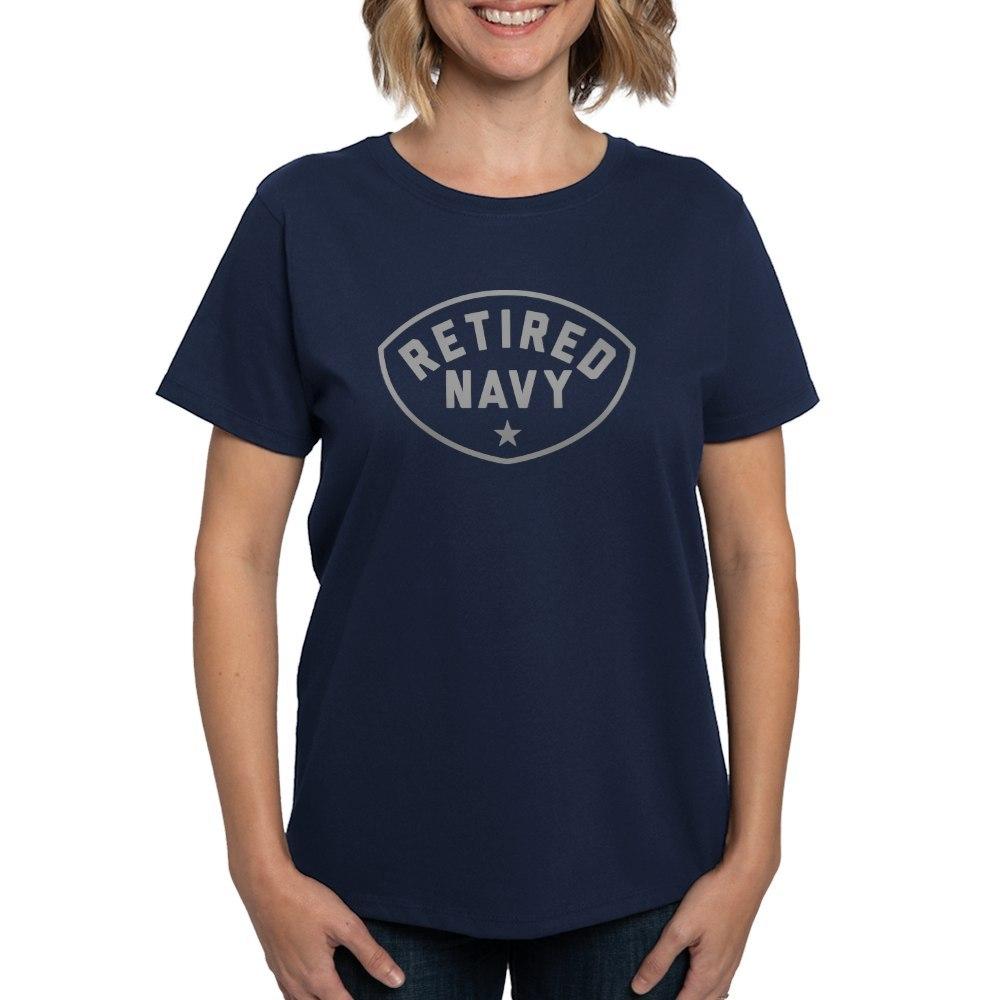 CafePress-Retired-Navy-Women-039-s-Dark-T-Shirt-Women-039-s-Cotton-T-Shirt-84039679 thumbnail 51