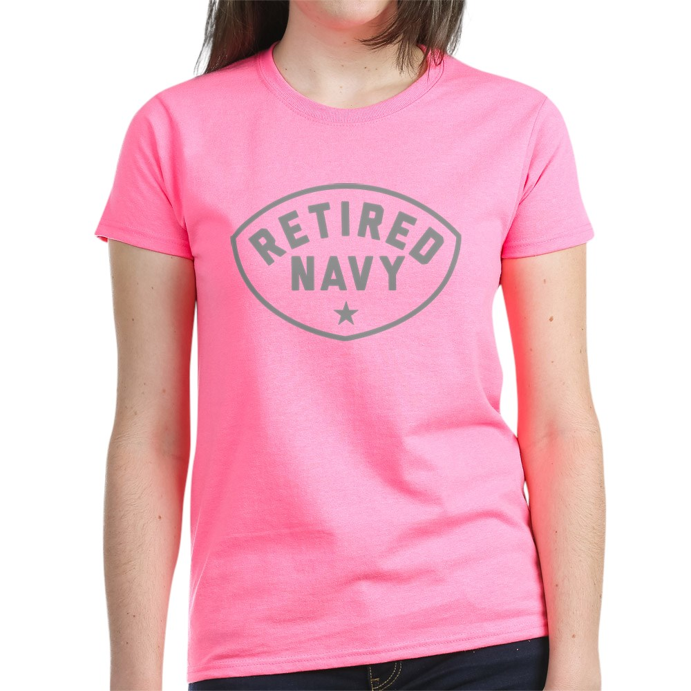 CafePress-Retired-Navy-Women-039-s-Dark-T-Shirt-Women-039-s-Cotton-T-Shirt-84039679 thumbnail 59