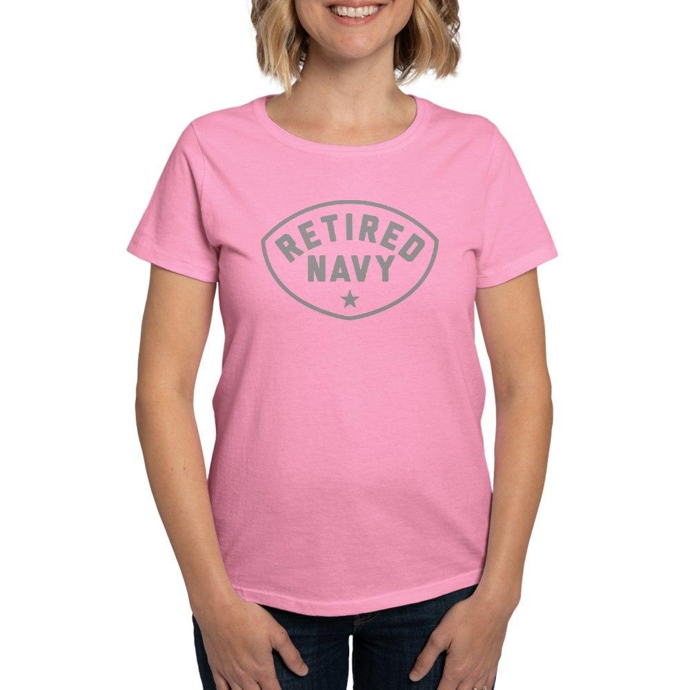 CafePress-Retired-Navy-Women-039-s-Dark-T-Shirt-Women-039-s-Cotton-T-Shirt-84039679 thumbnail 53