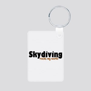 'Skydiving' Aluminum Photo Keychain