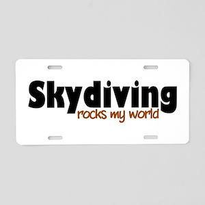 'Skydiving' Aluminum License Plate