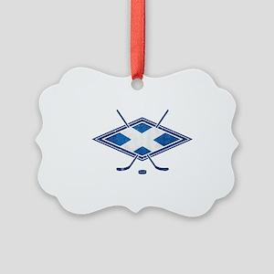 Scottish Ice Hockey Flag Ornament