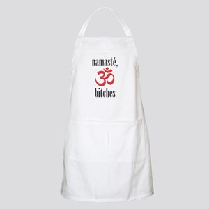 namaste, bitches (grey) Apron