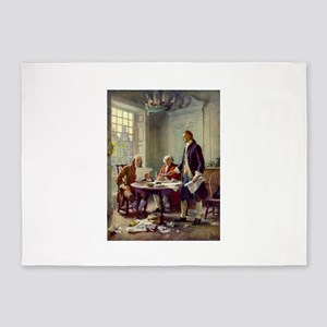 Declaration of Independence 1776 5'x7'Area Rug