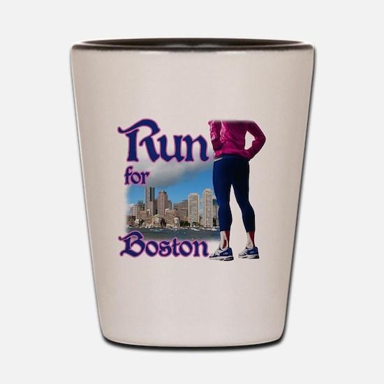 Run for Boston, MA Shot Glass
