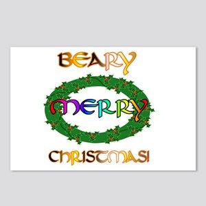 BEARY MERRY CHRISTMAS Postcards (Package of 8)