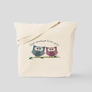 Owl always love cut cute Owls Art Tote Bag