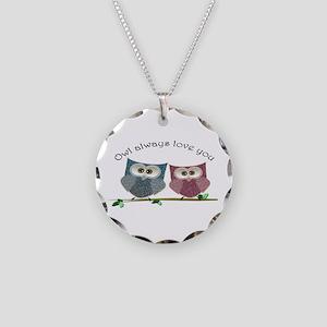 Owl always love cut cute Owls Art Necklace