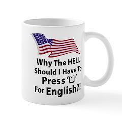 Press '1' For English Mug