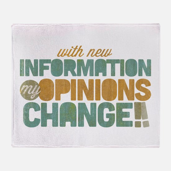 Grunge Opinions Change Throw Blanket