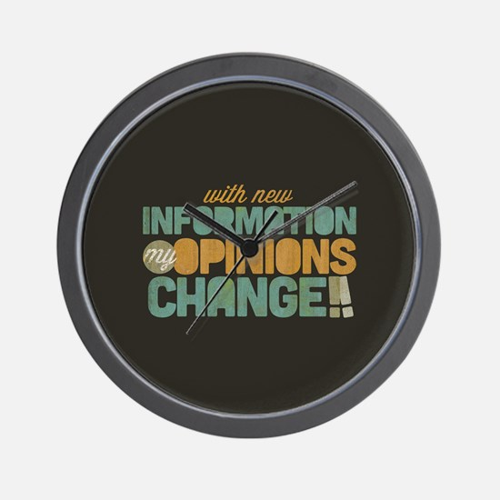 Grunge Opinions Change Wall Clock