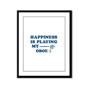 Oboe Vector Designs Framed Panel Print