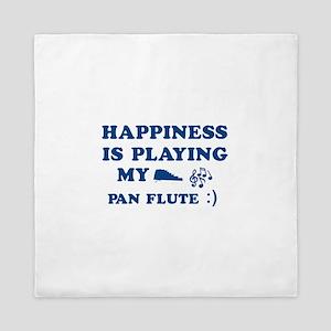 Pan Flute Vector Designs Queen Duvet