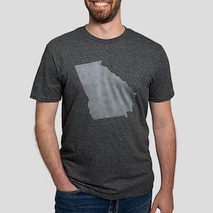 Georgia State Shape Outline Mens Tri-blend T-Shirt