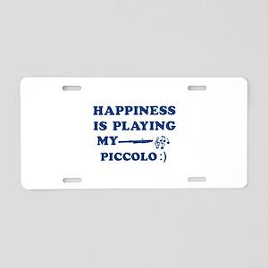 Piccolo Vector Designs Aluminum License Plate