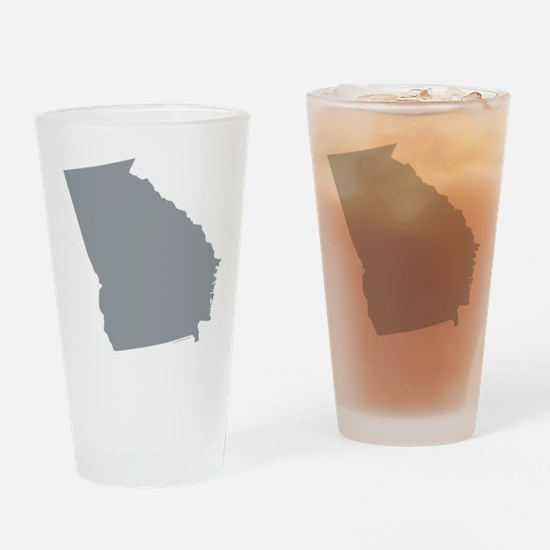 Georgia State Shape Outline Drinking Glass