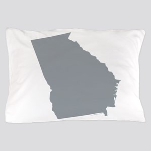 Georgia State Shape Outline Pillow Case
