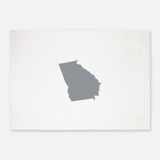 Georgia State Shape Outline 5'x7'Area Rug