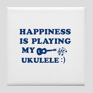 Ukulele Vector Designs Tile Coaster