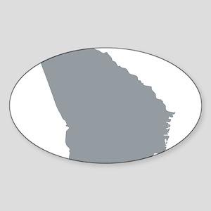 Georgia State Shape Outline Sticker (Oval)