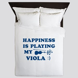 Viola Vector Designs Queen Duvet